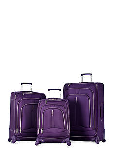 Olympia Luggage Marion 3 Piece Luggage Set - Violet