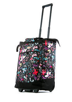 Olympia Luggage OLYMPIA FASHION ROLLING SHOPPER TOTE BUTTERFLY - Style # RS-400