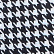 Duffel Bag: Houndstooth Olympia Luggage OLYMPIA FASHION ROLLING SHOPPER TOTE ZEBRA