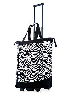 Olympia Luggage OLYMPIA FASHION ROLLING SHOPPER TOTE ZEBRA