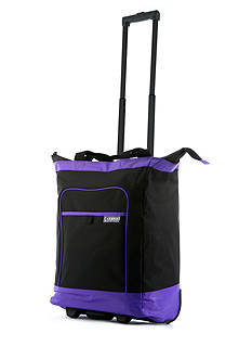 Olympia Luggage OLYMPIA DELUXE ROLLING SHOPPER TOTE PURPLE - Style # RS-800