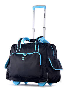 Olympia Luggage Deluxe Fashion Rolling Overnighter - Online Only