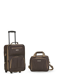Rockland 2 Piece Luggage Set - Brown