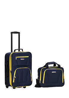 Rockland 2 Piece Luggage Set - Navy