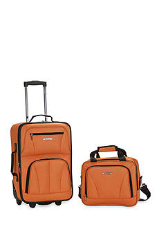 Rockland 2 Piece Luggage Set - Orange