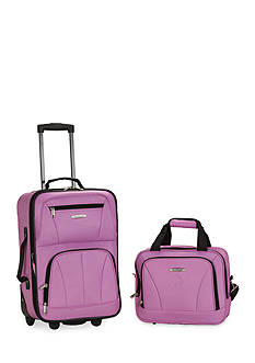 Rockland 2 Piece Luggage Set - Pink