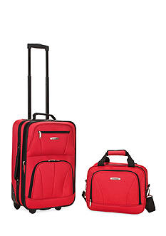 Rockland 2 Piece Luggage Set - Red