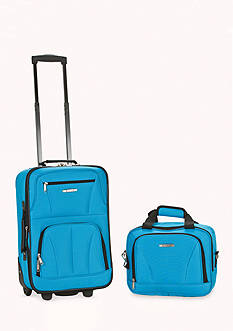 Rockland 2 Piece Luggage Set - Turquoise