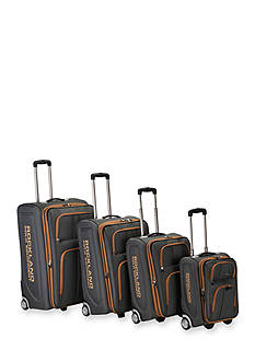 4 Piece Varsity Rockland Polo Equipment Upright Luggage Set - Charcoal