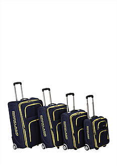 4 Piece Varsity Rockland Polo Equipment Upright Luggage Set - Navy