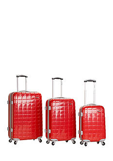 Rockland 3 Piece Celebrity Polycarbonate/ABS Luggage Set
