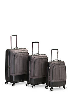 Rockland 3 Piece Milan Hybrid Spinner Luggage Set