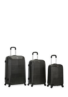 Rockland 3 Piece Vision Luggage Set - Crocodile
