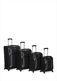 Rockland 4-Piece Impact Spinner Luggage Set - Black