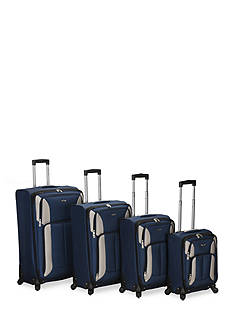 Rockland 4 Piece Impact Spinner Luggage Set - Navy