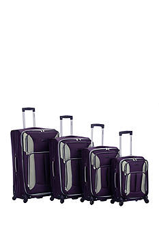 Rockland 4 Piece Impact Spinner Luggage Set