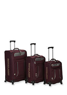 Rockland 3 Piece Navigator Spinner Luggage Set - Burgundy