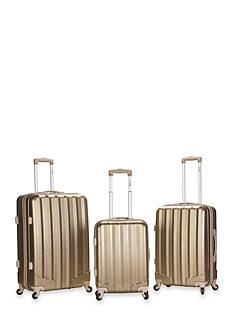 Rockland 3 Piece Metallic Luggage Set - Bronze