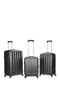 Rockland 3 Piece Metallic Luggage Set - Carbon
