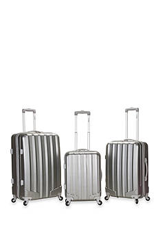 Rockland 3 Piece Metallic Luggage Set - GT Silver