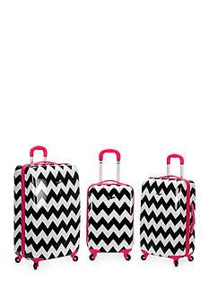 Rockland 3 Piece Safari Luggage Set - Chevron