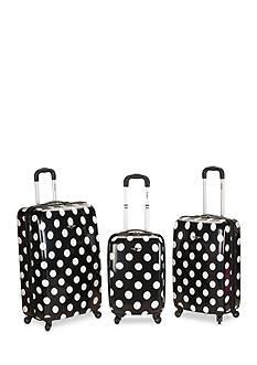 Rockland 3 Piece Laguna Beach Spinner Luggage Set