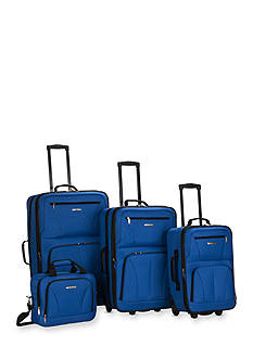 Rockland 4 Piece Luggage Set - Blue