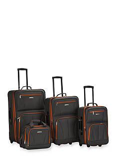 Rockland 4 Piece Luggage Set - Charcoal