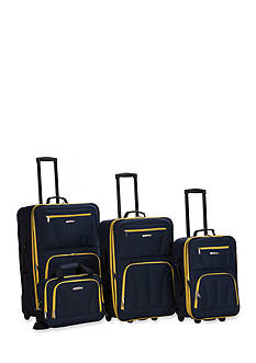 Rockland 4 Piece Luggage Set - Navy