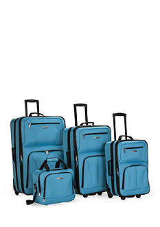 Rockland 4 Piece Luggage Set - Turquoise