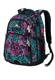 High Sierra Swerve Backpack - Pink Lemonade Feather Rainbow
