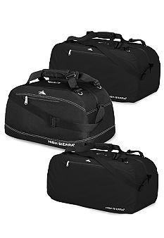 High Sierra Black Pack 'n Go Luggage Collection