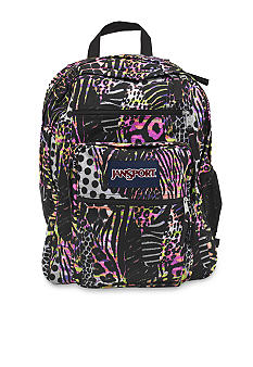 Jansport Big Student Backpack Pink Pansy Muted Safari