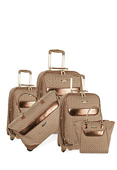 Anne Klein Signature Luggage Collection- Brown