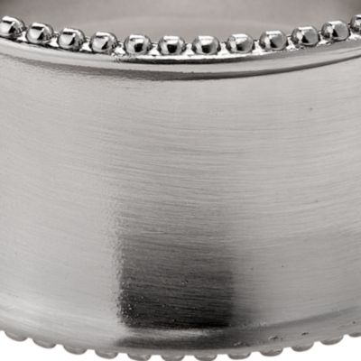 Discount Table Linens: Brushed Nickle Excell Beaded Elegance Napkin Ring