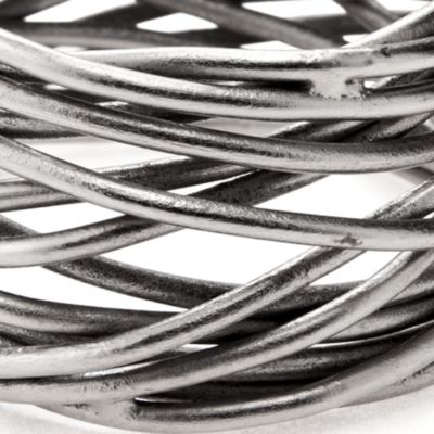 Linen: Pewter Excell Twisted Wire Napkin Ring