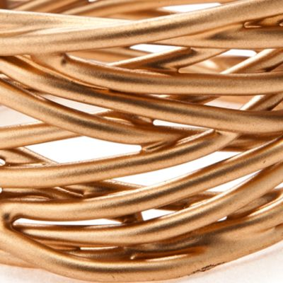Discount Table Linens: Brushed Gold Excell Twisted Wire Napkin Ring