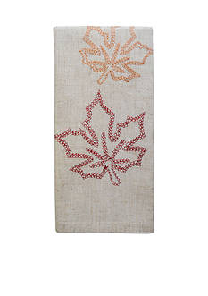 Bardwil Embroidered Leaves Napkin