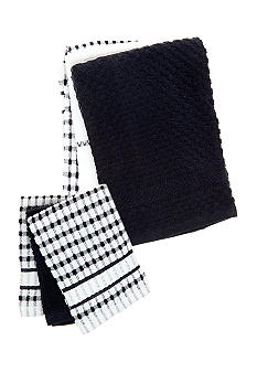 Bardwil 3 Piece Set Terry Kitchen Towels and Dish Cloths