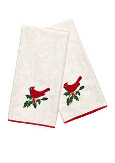 John Ritzenthaler Company Holiday Song Cardinal Embroidered Microfiber Towels