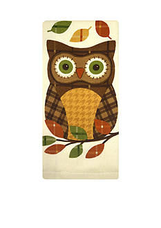 John Ritzenthaler Company Plaid Owl Kitchen Towel