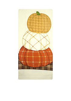John Ritzenthaler Company Plaid Pumpkin Kitchen Towel