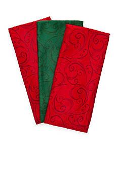 John Ritzenthaler Company Tonal Swirl 3-Pack Microfiber Towels