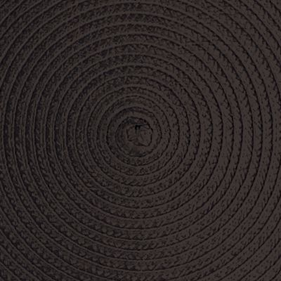Table Linens and Placemats: Black John Ritzenthaler Company NAVY ROUND PM WOVEN