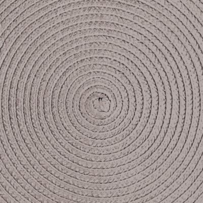 Table Linens and Placemats: Taupe John Ritzenthaler Company NAVY ROUND PM WOVEN