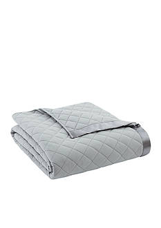 Shavel Micro Flannel Twin Greystone Quilted Blanket
