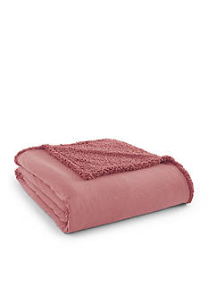 Shavel Micro Flannel To Sherpa King Frosted Rose Blanket
