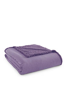 Shavel Micro Flannel To Sherpa Twin Amethyst Blanket