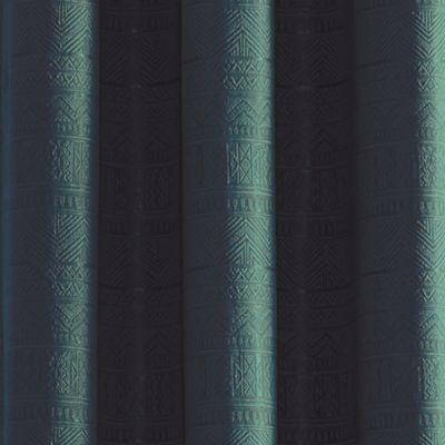 Discount Window Treatments: Teal Croscill CODY GRMT 48X95