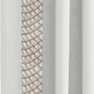 Discount Window Treatments: Natural Croscill TRAPEZE PNL 50X63